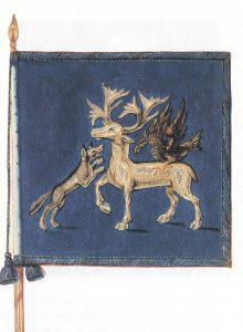 Ritning.Jämtl.kavallerikomp.vapens.1718